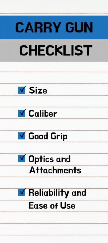 Carry Gun Checklist